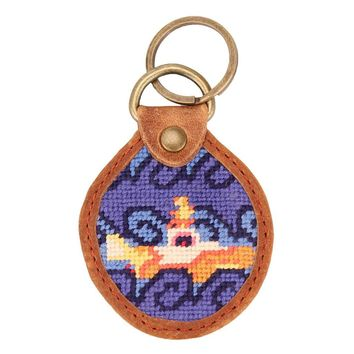 Beneath the Waves Needlepoint Key Fob by Smathers & Branson