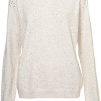 Knitted Embellished Sweater - Knitwear  - Clothing  - Topshop