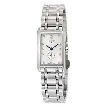 Longines Dolce Vita Mother of Pearl Dial Stainless Steel Ladies Watch L52554876