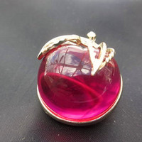 Sarah Coventry Brooch Lucite Brooch Pink Red  Apple Brooch 1960s Vintage Jewelry