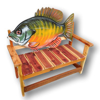Fish Bench, Sunfish Bench, Reclaimed Wood Furniture, Reclaimed Wood Bench, Salvaged Wood, Angler's bench, Gift for Dad, Gift for Fisherman