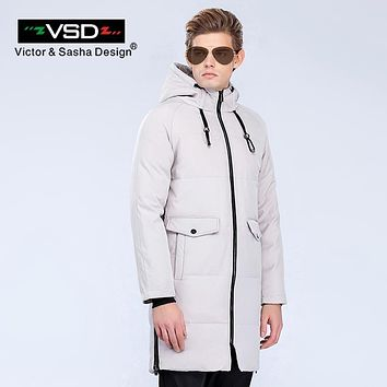 VSD Winter Down Jacket Man 2018 Fashion Thick Slim Casual Zipper Waterproof Windproof Parkas Coat Men's Clothing Outerwear V6060
