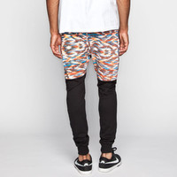 Uncle Ralph Aztec Print Waist Mens Jogger Pants Black  In Sizes