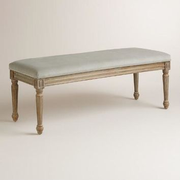 Dove Velvet Paige Dining Bench