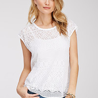 Baroque-Patterned Lace Top