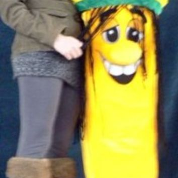 Giant Rasta Banana Plush Stuffed Toy Five and a Half Feet Tall - Big Plush Banana Toy Fun Pillow Gift