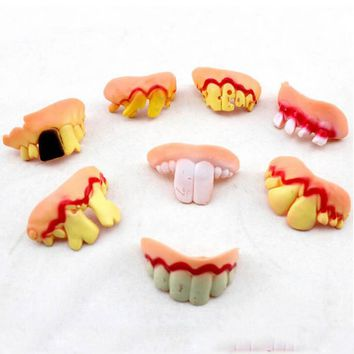 2017 New Deluxe Buck Tooth Fake Costume False Teeth Funny Goofy Kids Adults Cosplay Props Party Dress Decor