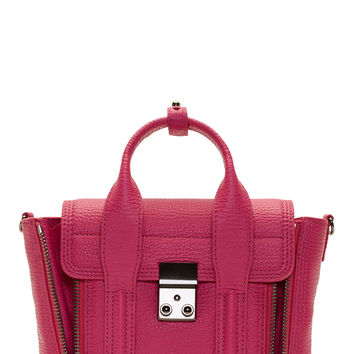 3.1 Phillip Lim Fuchsia Grained Leather Pashli Mini Satchel