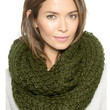 Green Chunky Hand Knitted Snood