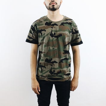 Joey Camo Distressed T-Shirt
