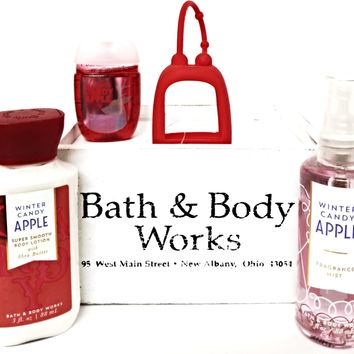 Bath and Body Works Winter Candy Apple Travel Lotion, Mist, PocketBac & Holder
