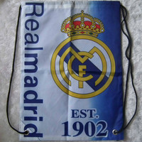 kiTki 44x33 cm Real Madrid football soccer backpack trainer bag equipment