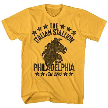 Rocky T-Shirt Distressed Italian Stallion Est 1976 Ginger Tee