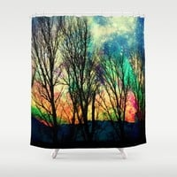 crazy sky Shower Curtain by Haroulita | Society6