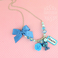 Lilo and stitch inspired necklace with ohana charm