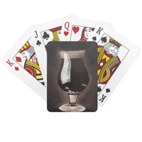Dark Beer in Tulip Glass Porter Stout Painting Art Playing Cards