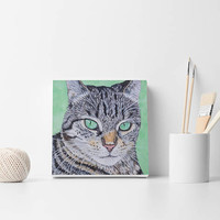 Cat portrait painting Custom Cat Painting Custom Pet Painting Cat painting Cat portrait Painting from photo Cat lovers gift Cat wall decor
