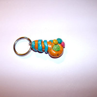 key chain. colorful, bright. ganja pipe mini. 420.