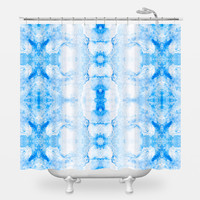 Blue kaleidoscopes Shower Curtain