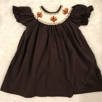Smocked Dress Thanksgiving