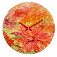 Rosie Brown Hello Hibiscus Round Clock