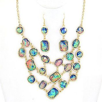 Mermaid Fantasy Opal Necklace Set