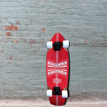 Mini Cruiser Red Putzer Complete - 27 x 8 - Longboard Skateboard