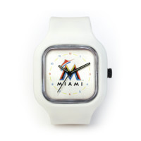 Miami Marlins (2015) Watch in a White Strap