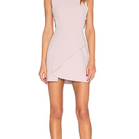 BCBGMAXAZRIA Side Cut Out Dress in Lavender Mist