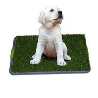 Sonnyridge Easy Dog Potty Training - Made with Synthetic Grass - 3 Layered System - Pan Tray - Great for Dogs Stuck in the House All Day - Indoor Use. It's Like a Dog Litter Box or a Dog Indoor Potty