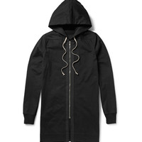 Rick Owens - Long-Line Washed Cotton-Jersey Hoodie | MR PORTER
