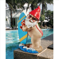 Park Avenue Collection The Shredder Surfer Dude Gnome Statue