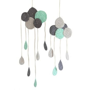 BEBEMOSS, LLC - Wall Decor Hanging Clouds