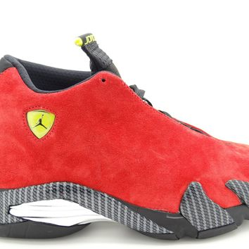 "Air Jordan 14 Retro ""Ferrari"" Men's Shoes Challenge Red/Vibrant Yellow/Anthracite/Black 654459-670"