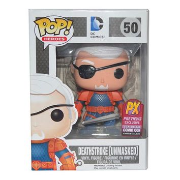 Deathstroke Unmasked Pop! Vinyl Figure SDCC 2014 Exclusive - Funko - DC Comics - Pop! Vinyl Figures at Entertainment Earth