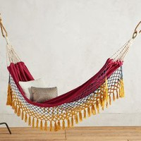 Canyon Fringe Hammock by Anthropologie in Magenta Size: One Size House & Home