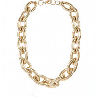 Gold Oval Chunky Chain Necklace
