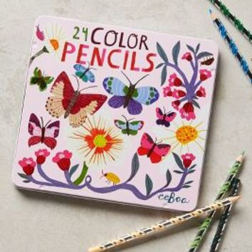 Butterflies Colored Pencils by Anthropologie in Pink Size: One Size Gifts