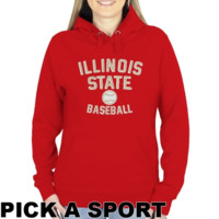 Illinois State Redbirds Ladies Legacy Pullover Hoodie - Red