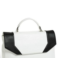 POVERTY FLATS by rian 'Geo Maude' Faux Leather Satchel, Small   Nordstrom