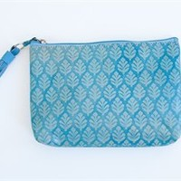 Shopblithe.com - NEEM CLUTCH MEDIUM TURQUOISE