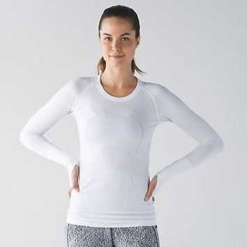 Gotopfashion Lululemon Swiftly Tech Long Sleeve Crew Sport Yoga Stretch Tunic Shirt Top Blouse