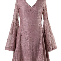 Boho Bell Sleeve Lace Dress