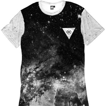 Space Minimalist Men's Tee - Black