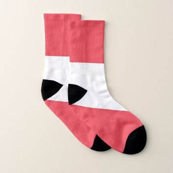 All Over Print Socks with Flag of Austria