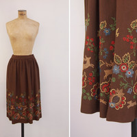 1930s Skirt - Vintage 30s Embroidered Skirt - Bosque Skirt