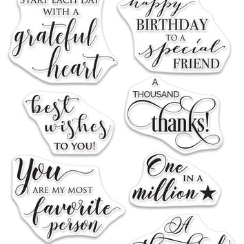 Penny Black Clear Stamps-Grateful Heart