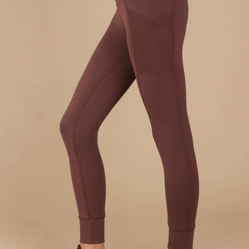 Ollie Ribbed Bottom Overlay Leggings