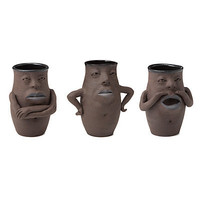 ATTITUDE VASES | Bruce Fontaine Jar, Bruce Fontaine Pottery, Fun Pottery, Fun Ceramics | UncommonGoods