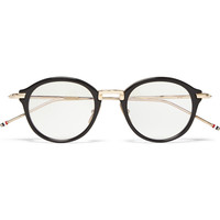 Thom Browne - Round-Frame Acetate and Metal Optical Glasses | MR PORTER
